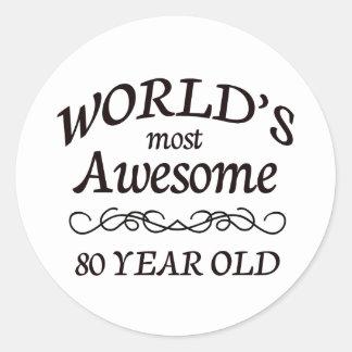 世界の最も素晴らしい80歳 ラウンドシール