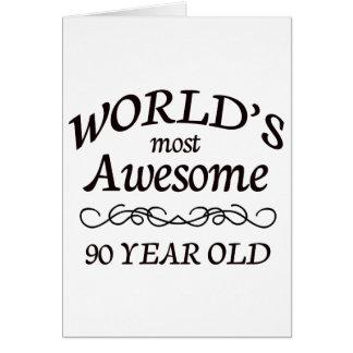世界の最も素晴らしい90歳 カード
