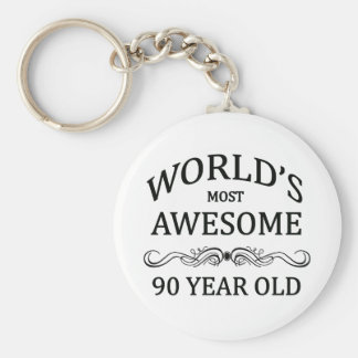 世界の最も素晴らしい90歳 キーホルダー
