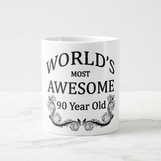 世界の最も素晴らしい90歳 ジャンボコーヒーマグカップ