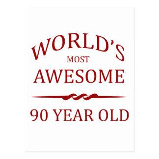 世界の最も素晴らしい90歳 ポストカード