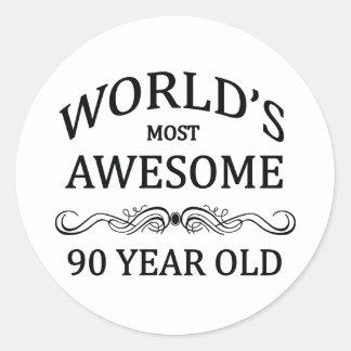 世界の最も素晴らしい90歳 ラウンドシール
