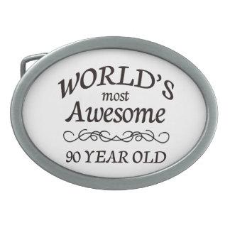 世界の最も素晴らしい90歳 卵形バックル