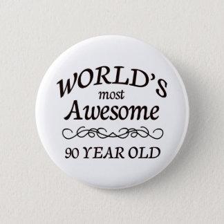 世界の最も素晴らしい90歳 缶バッジ