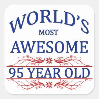 世界の最も素晴らしい95歳 スクエアシール