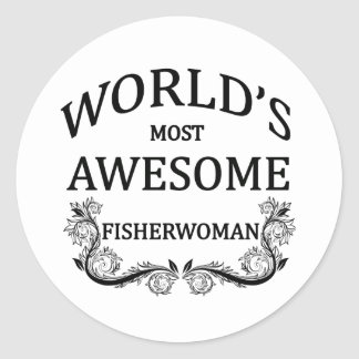 世界の最も素晴らしいFisherwoman ラウンドシール