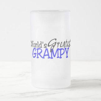 世界の最も素晴らしいGrampyの暗藍色 フロストグラスビールジョッキ
