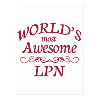 世界の最も素晴らしいLPN ポストカード