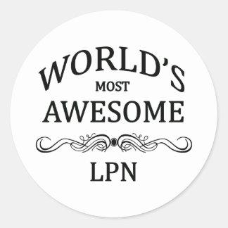 世界の最も素晴らしいLPN ラウンドシール