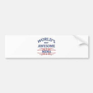 世界の最も素晴らしいMema バンパーステッカー
