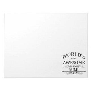 世界の最も素晴らしいMimi ノートパッド