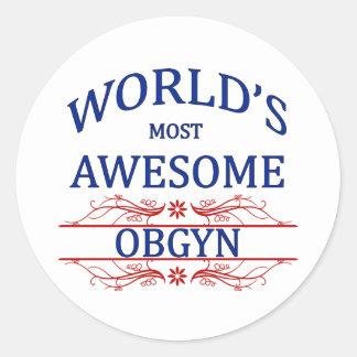 世界の最も素晴らしいOBGYN ラウンドシール
