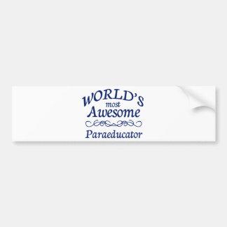 世界の最も素晴らしいParaeducator バンパーステッカー