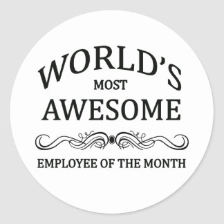 世界の月の最も素晴らしい従業員 ラウンドシール