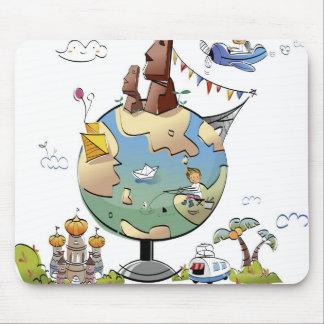 世界の有名な場所世界中から マウスパッド