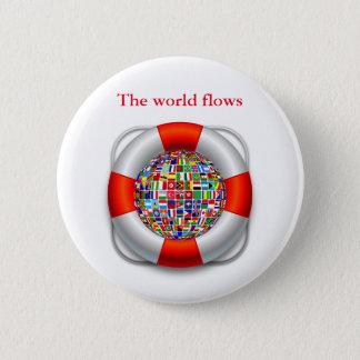 世界の流れ 5.7CM 丸型バッジ