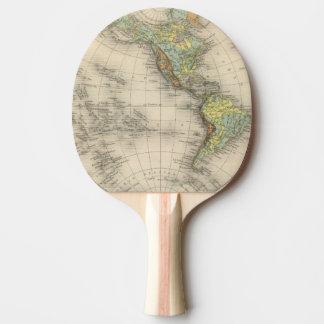 世界の測高の地図 卓球ラケット
