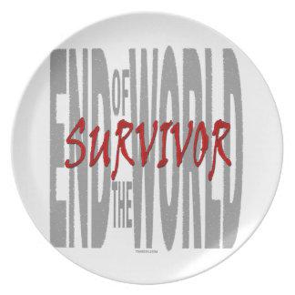 世界の生存者の端 プレート