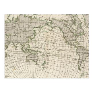 世界の磁気地図 ポストカード