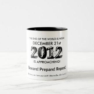 世界の端は近いです! ツートーンマグカップ