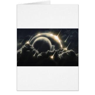 世界の端、影響の隕石 グリーティングカード