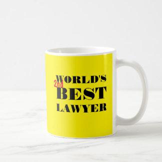 世界の第2最も最高のな弁護士 コーヒーマグカップ
