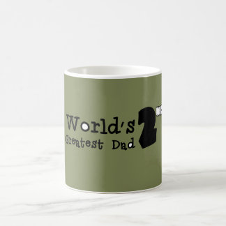 世界の第2最も素晴らしいパパの父の日のマグ コーヒーマグカップ