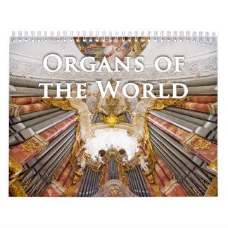 世界の管器官のカレンダーの器官 カレンダー