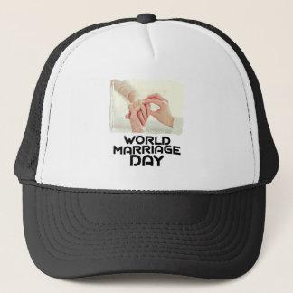 世界の結婚日-感謝日 キャップ