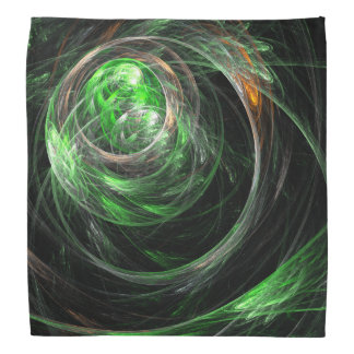 世界の緑の抽象美術のまわり バンダナ