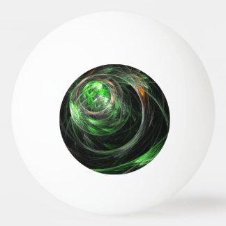 世界の緑の抽象美術のまわり 卓球ボール