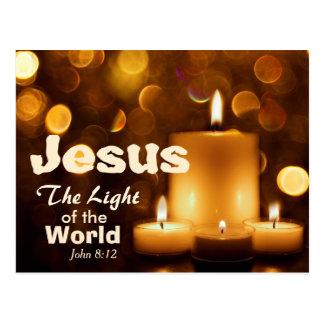 世界の聖書の詩の郵便はがきのイエス・キリストライト ポストカード