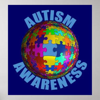 世界の自閉症の認識度ポスター(特大) ポスター