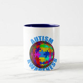 世界の自閉症の認識度 ツートーンマグカップ
