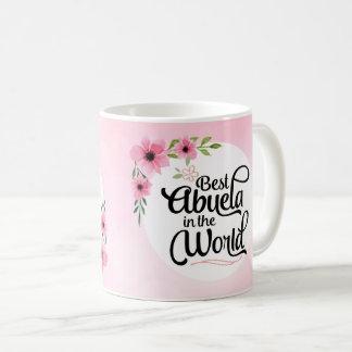 世界の花のマグの最も最高のなAbuela コーヒーマグカップ