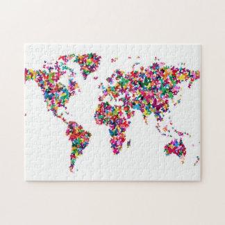 世界の蝶地図 ジグソーパズル