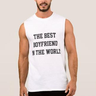 世界の袖なしのTシャツの最も最高のなボーイフレンド 袖なしシャツ