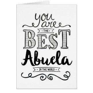 世界の誕生日の最も最高のなAbuela カード