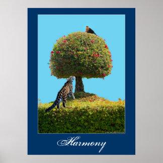世界の調和のアースデー動物自然ポスター ポスター