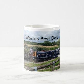 世界の運河の狭いところのボートが付いている最も最高のなパパのマグ コーヒーマグカップ