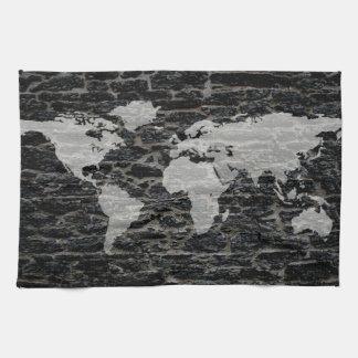 世界の黒い壁 キッチンタオル
