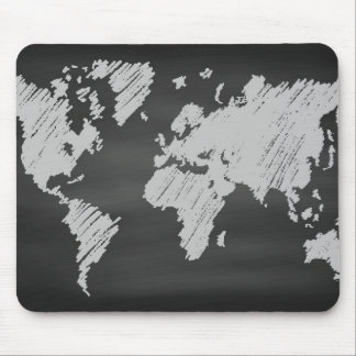 世界の黒板の地図 マウスパッド
