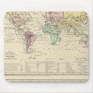 世界の2つの地図 マウスパッド