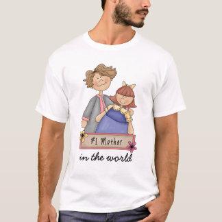 世界の#1母 Tシャツ