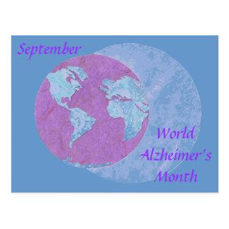 世界のAlzheimerの月- 9月 ポストカード