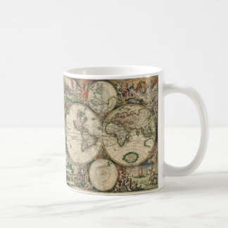 世界のGerardヴァンSchagen's Map、1689年 コーヒーマグカップ