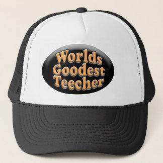 世界のGoodest Teecherのおもしろいな先生のギフト キャップ