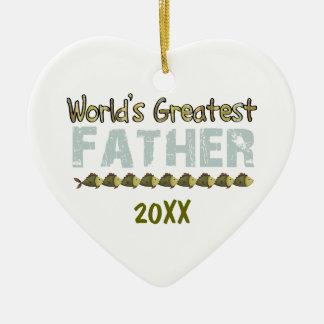 世界のGreatedの父20XXのハートのオーナメント セラミックオーナメント