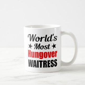 世界のHungoverウェートレス コーヒーマグカップ