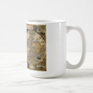 世界のJodocus Hondius 1595の地図 コーヒーマグカップ